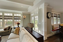 Family Room, Contemporary Craftsman Custom Home