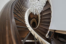 Spiral Staircase, Distinctive Transitional Custom Home
