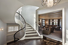 Stairway, Distinctive Transitional Custom Home