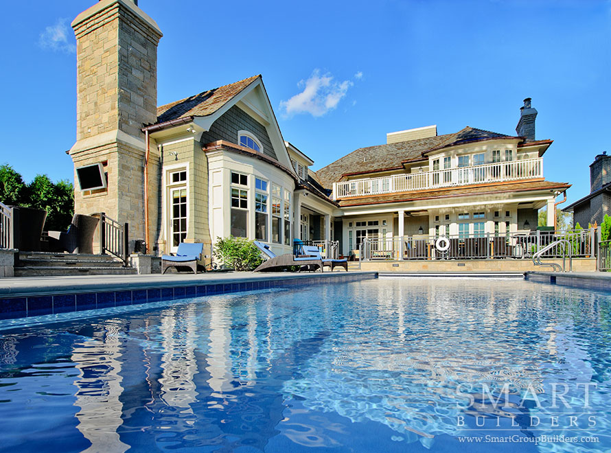 Pool & House Close Up - SMART Builders – Fine Homes | Renovations | SMART Group Custom Home Builders | New Construction Home Builders, Professional Remodeling