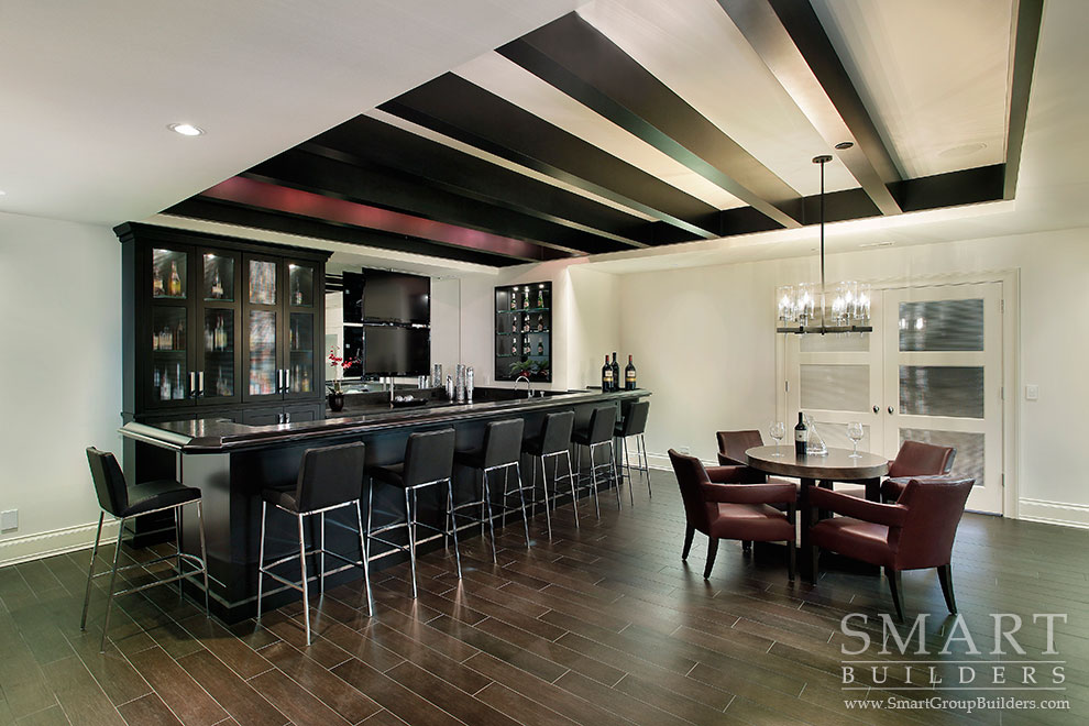 Lower Level Bar - SMART Builders – Fine Homes | Renovations | SMART Group Custom Home Builders | New Construction Home Builders, Professional Remodeling