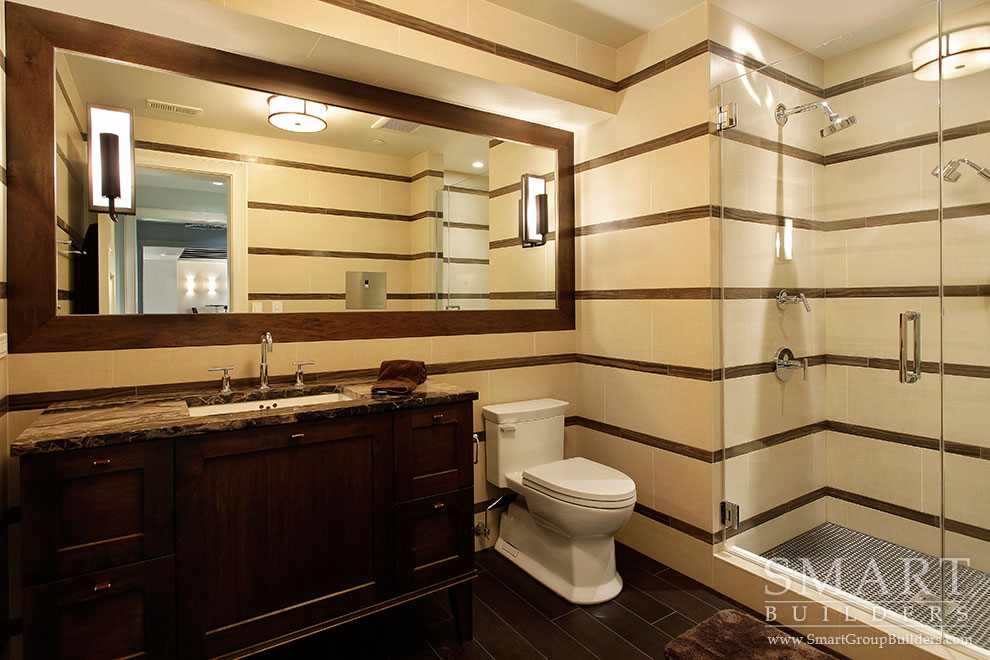 Lower Level Bathroom - SMART Builders – Fine Homes | Renovations | SMART Group Custom Home Builders | New Construction Home Builders, Professional Remodeling