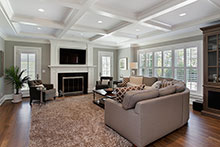 Family Room, Modern Americana Custom Home