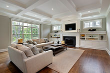 Family Room, Classic Chic Custom Home