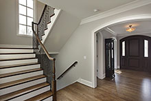 Foyer, Gracious European Custom Home