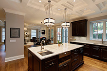 Kitchen Island Close Up, Elegant Traditional 48