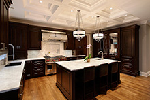 Kitchen Island, Elegant Traditional Custom Home
