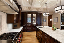 Kitchen, Elegant Traditional Custom Home
