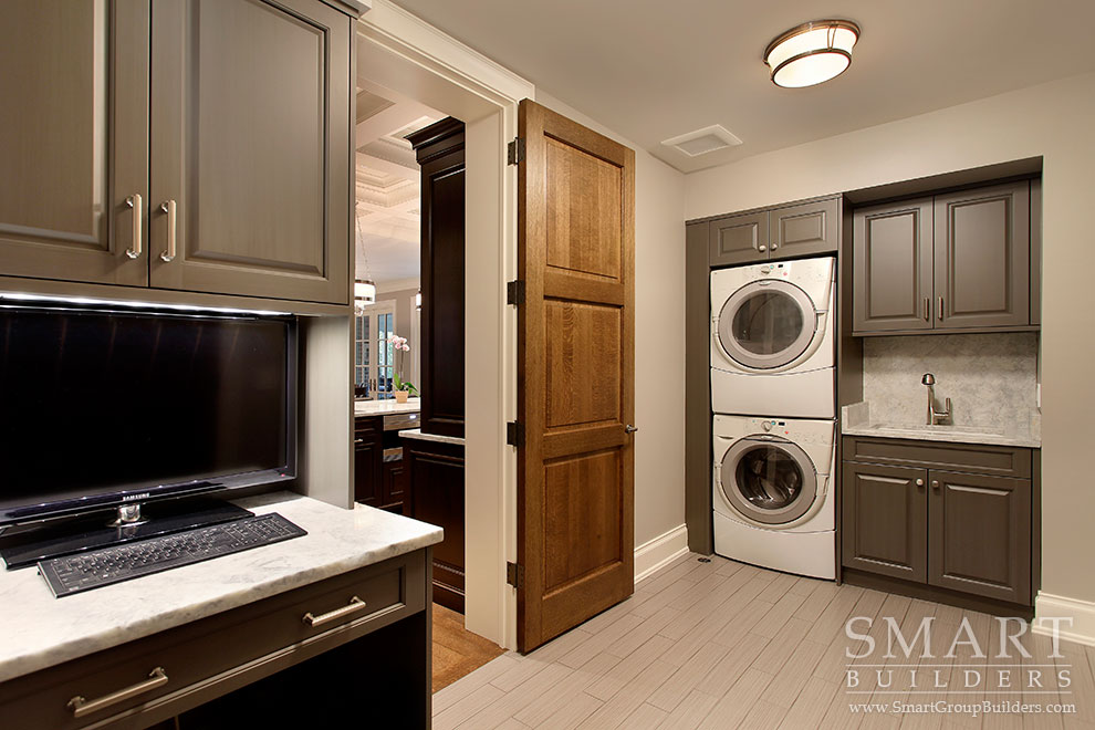 Mudroom & 1st Floor Laundry - SMART Builders – Fine Homes | Renovations | SMART Group Custom Home Builders | New Construction Home Builders, Professional Remodeling