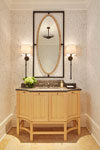 Custom Vanity in Formal Powder Room , Casual Elegance 152