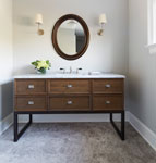 Guest Bathroom Custom Vanity , Casual Elegance 161