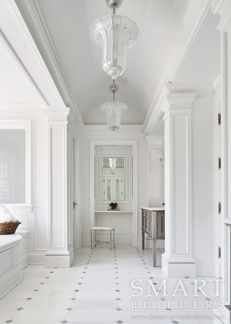 Master Bath Custom Millwork  - SMART Builders – Fine Homes | Renovations | SMART Group Custom Home Builders | New Construction Home Builders, Professional Remodeling