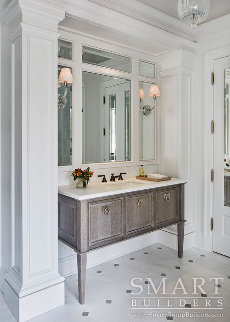 Master Bath Custom Cabinets - SMART Builders – Fine Homes | Renovations | SMART Group Custom Home Builders | New Construction Home Builders, Professional Remodeling