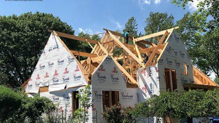 Arlington Heights Custom Home In Progress - Framing